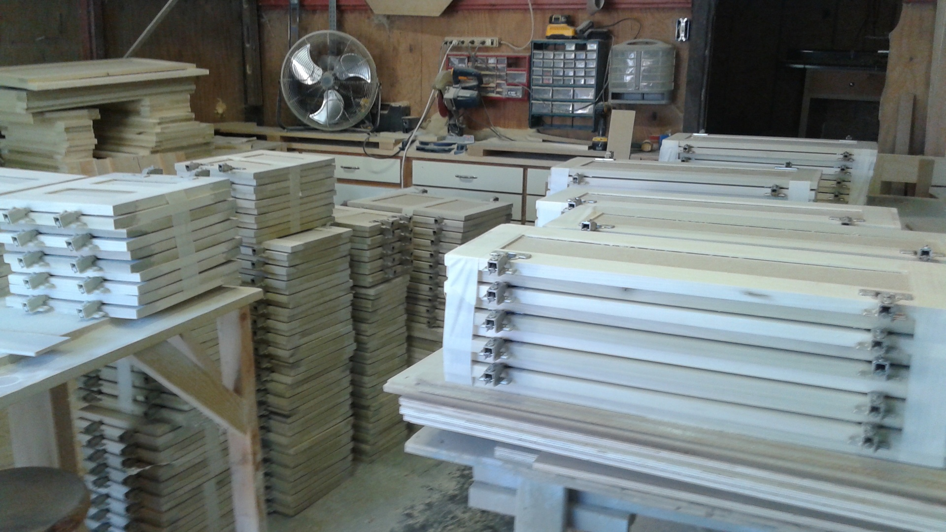 large order of unfinished doors