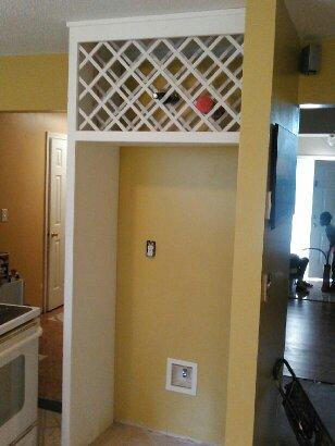 over refrig wine rack